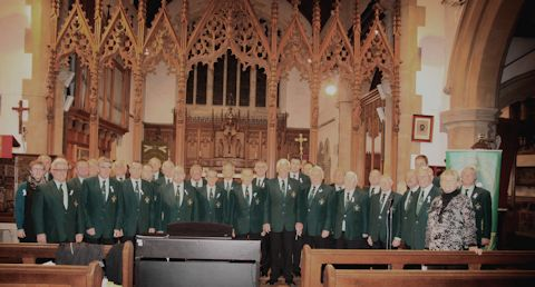 Whitland male voice choir supporting the Not in my Name campaign