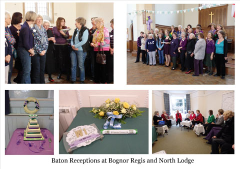 Baton reception at Bognor and North Lodge