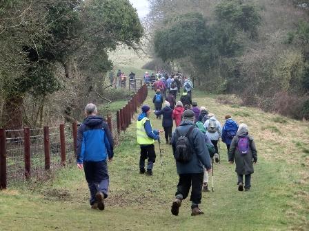 March walk at Emberton Park