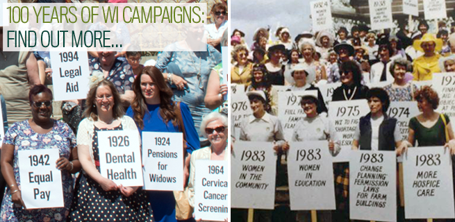 100 years of WI campaigns