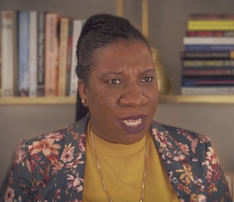 Tarana Burke during an interview