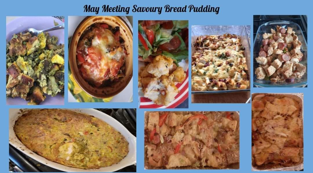 Savoury Bread Pudding made by members