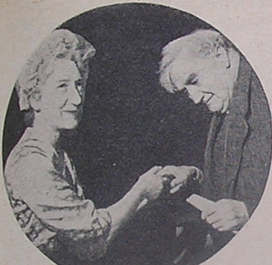 Vaughan Williams with Nancy Tennant – Vice Chair NFWI