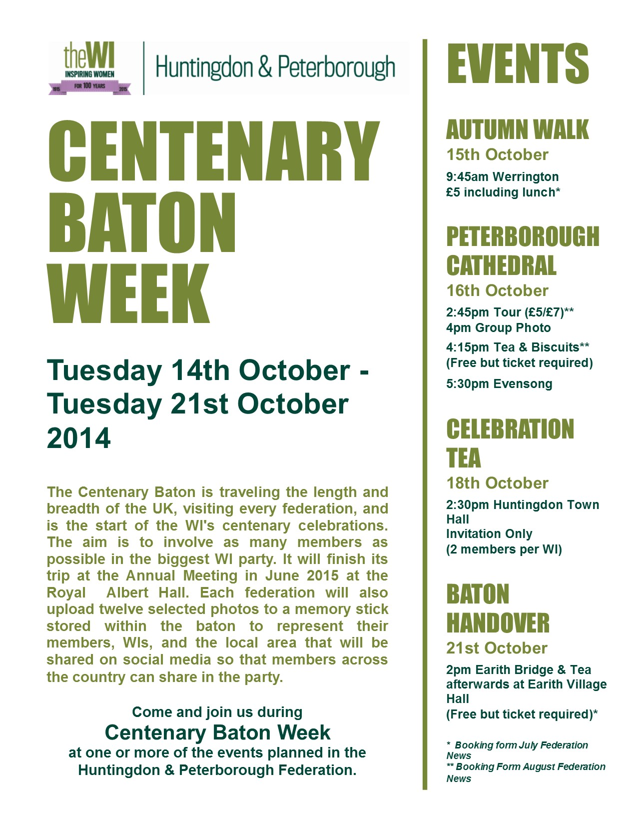 Information about Baton Week
