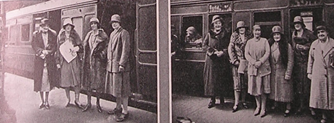 Delegates on their way to the 1930 AGM in Blackpool
