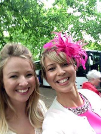 Lauren Hills & Fran MacKenzie outside Palace