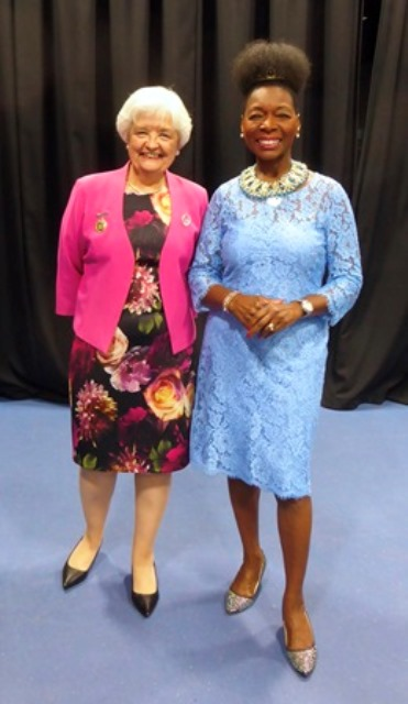 Anne with Baroness Benjamin