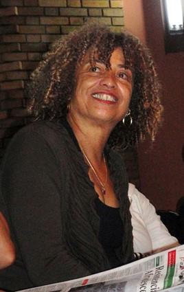 Angela Davies smiling