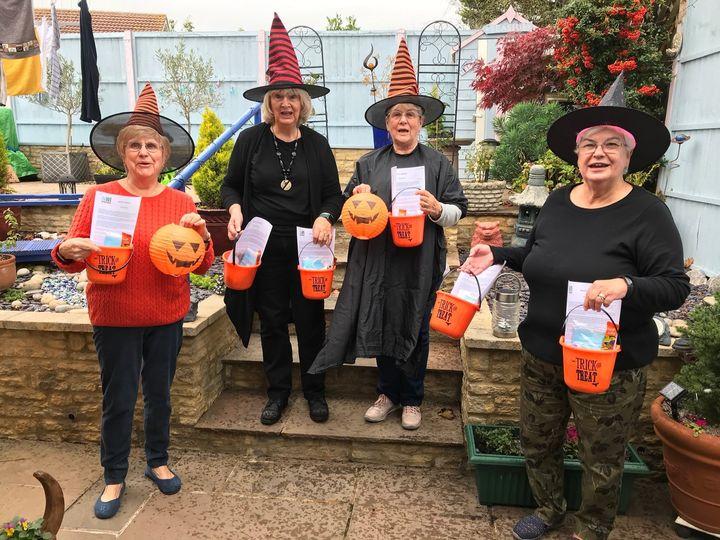 Committee members at Halloween