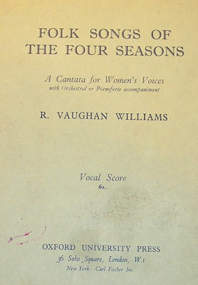 Folk Songs of the Four Seasons score