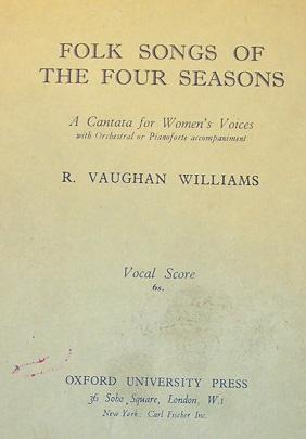 Folk Songs of the Four Seasons score