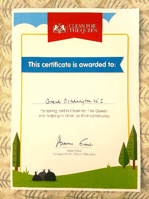 Certificate for
