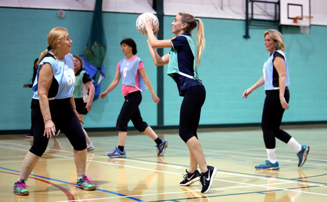 Women playing Walking Netball