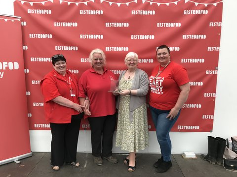 British Heart Foundation Cymru, winner of the WI trophy for the best voluntary sector stand at the 2019 Eisteddfod