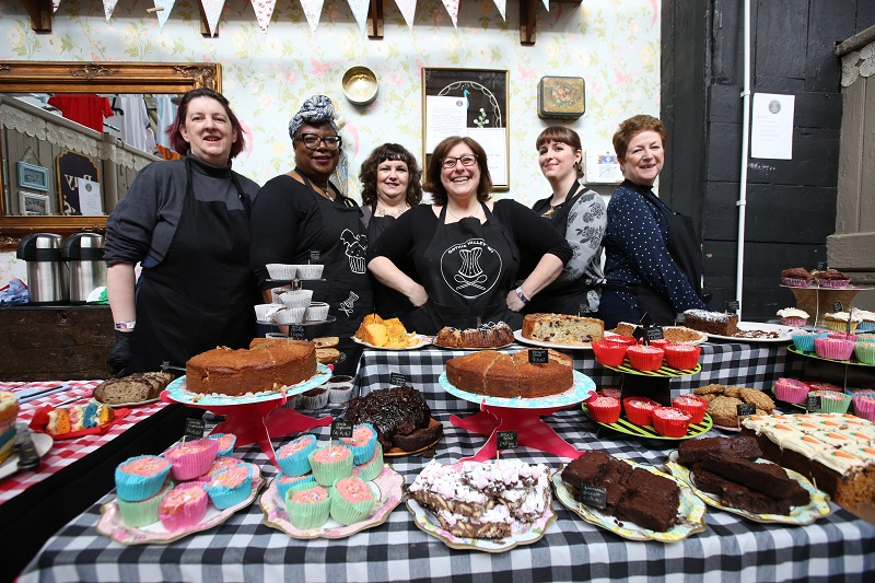 WI members at a cake stall at the BBC 6 Music Festival 2020