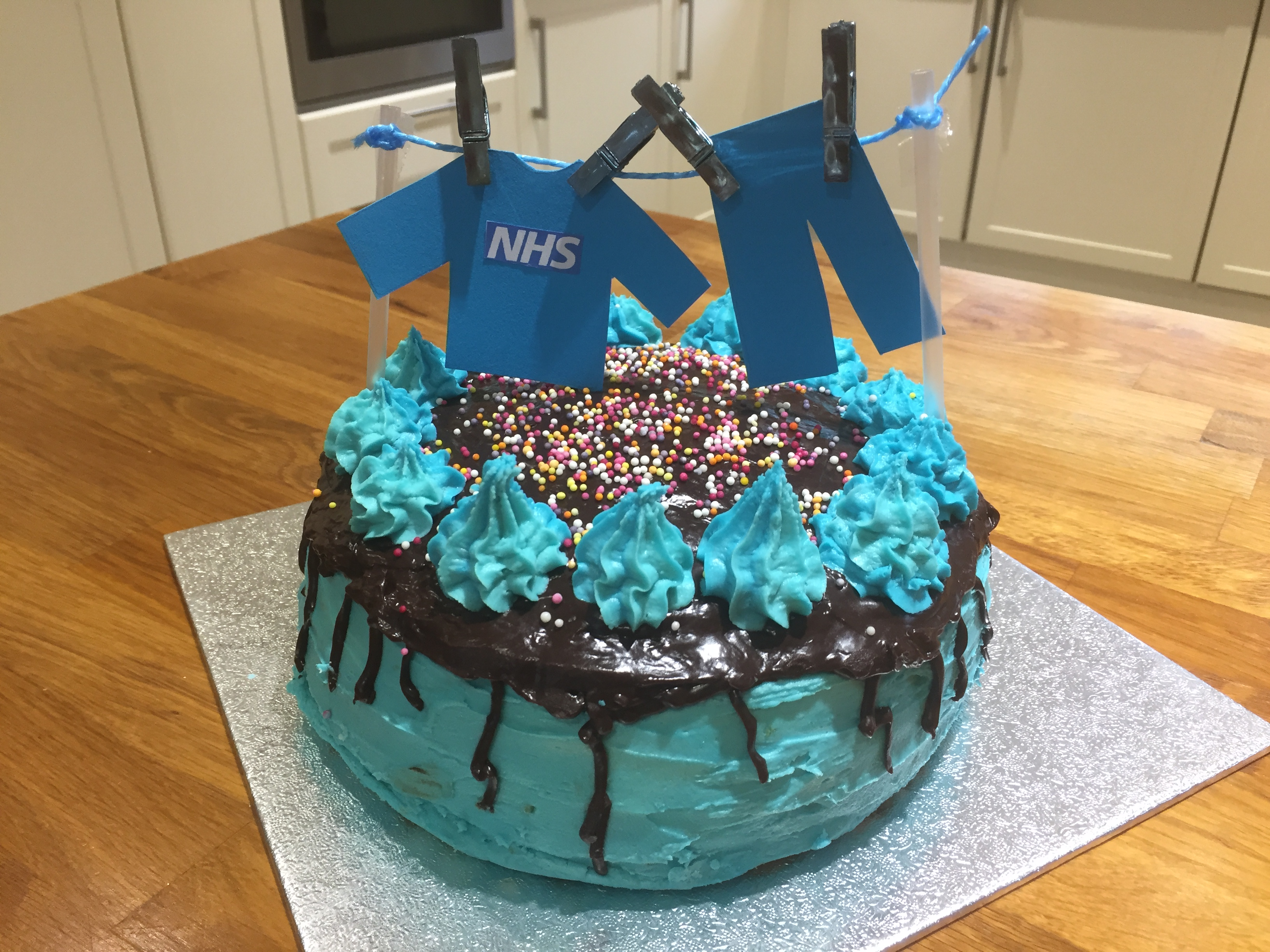 NHS cake by Towcester Evening WI