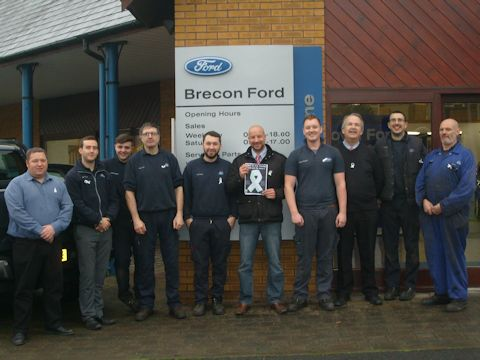 Brecon Ford supporting Not in my Name