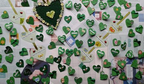 climate change hearts