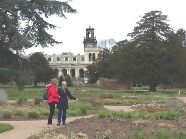 Admiring the Gardens