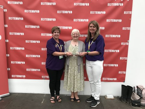 Mudiad Meithrin, runner-up of the WI trophy for the best voluntary sector stand at the 2019 Eisteddfod