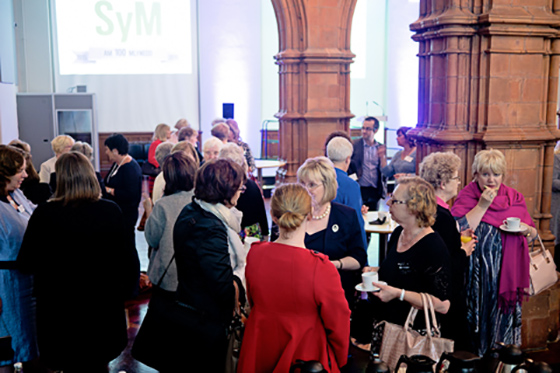 WI members in Wales networking at an event