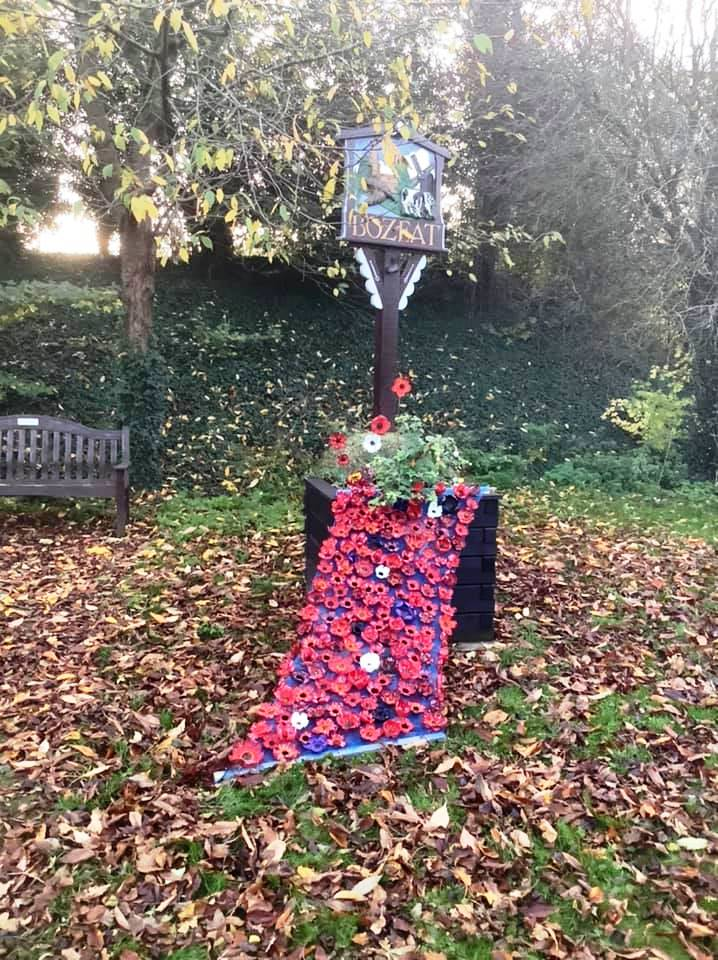 20.11 Poppies by Village Sign and planter