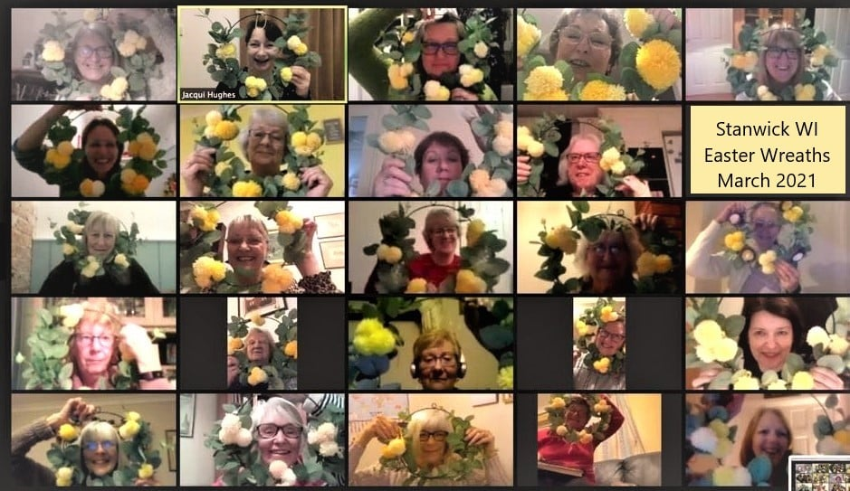 21.03 Making Easter wreaths