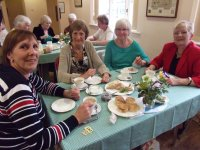 Members enjoy tea and an update on ACWW projects