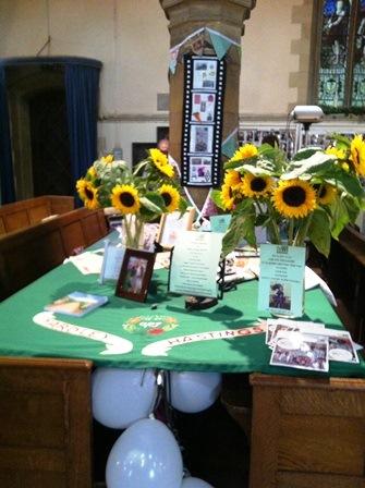 National Treasures display at Yardley Hastings