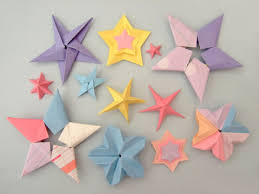 folder colourful paper stars
