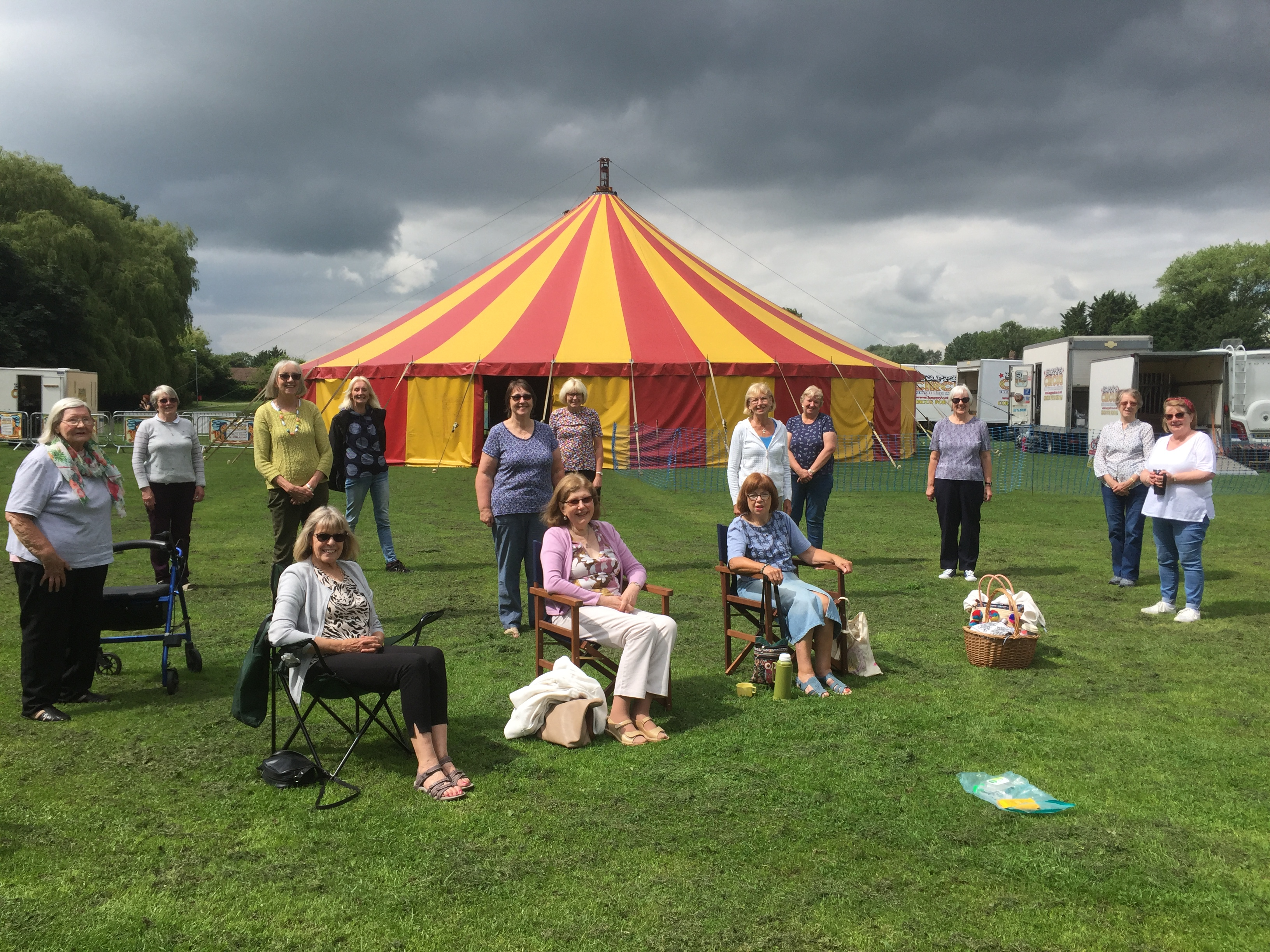 TEWI July 2021 social with big top