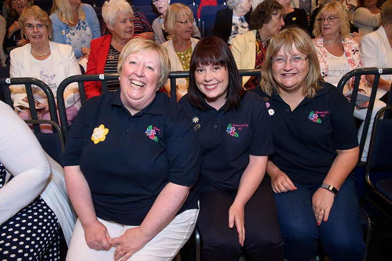 Members in the audience at the NFWI AM 2018 in Cardiff