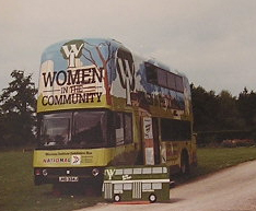 Women in the Community promotion bus