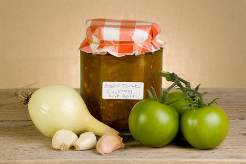 preserve of green tomatoes