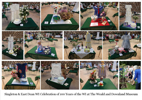 Collage of exhibits at Weald and Downland Museum