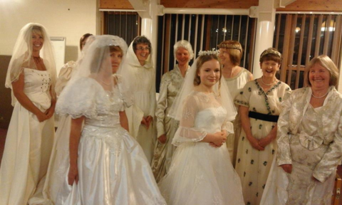 Wedding Show of gowns dating from 1915 to 2015