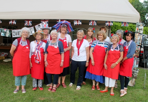 The WI ladies hosting the Street Party