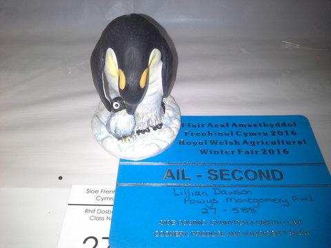 2nd prize Penguin by Lillian Dawson, Powys Montgomery