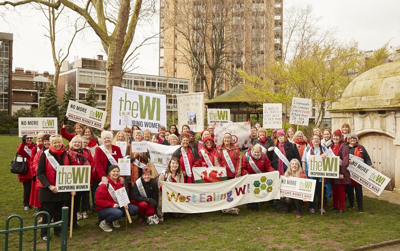 WI members at the Million Women Rise march 2020 in London