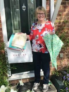 President Sue with bags