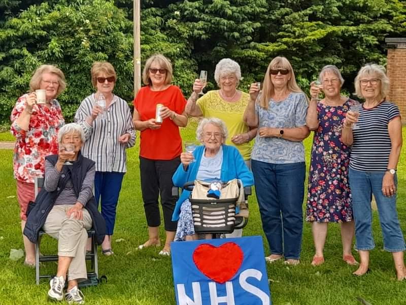 Bozeat WI celebrating the NHS