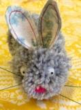 Grey pom pom bunny