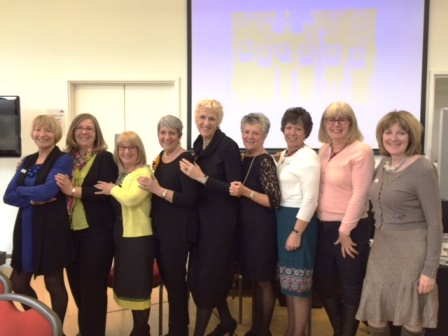 Welford WI members with the Calendar girls at Denman