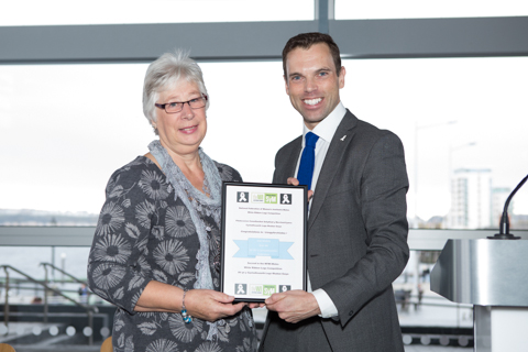 Joan Mallett and Ken Skates, Cabinet Secretary for the Economy and Transport