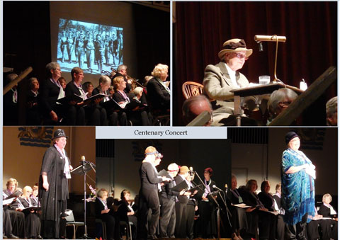 A collage of photos from Centenary Concert