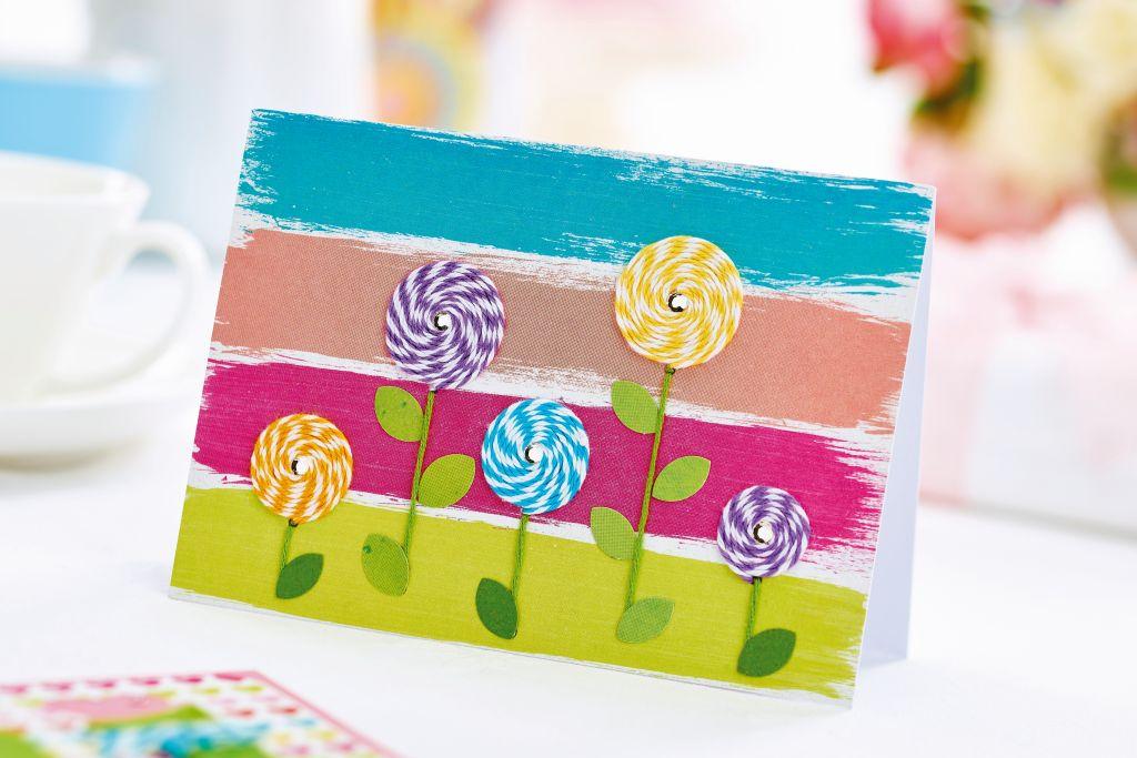 Twine flowers card