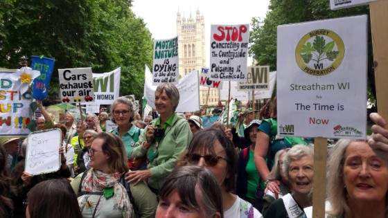WI members at the climate change mass lobby in westminster