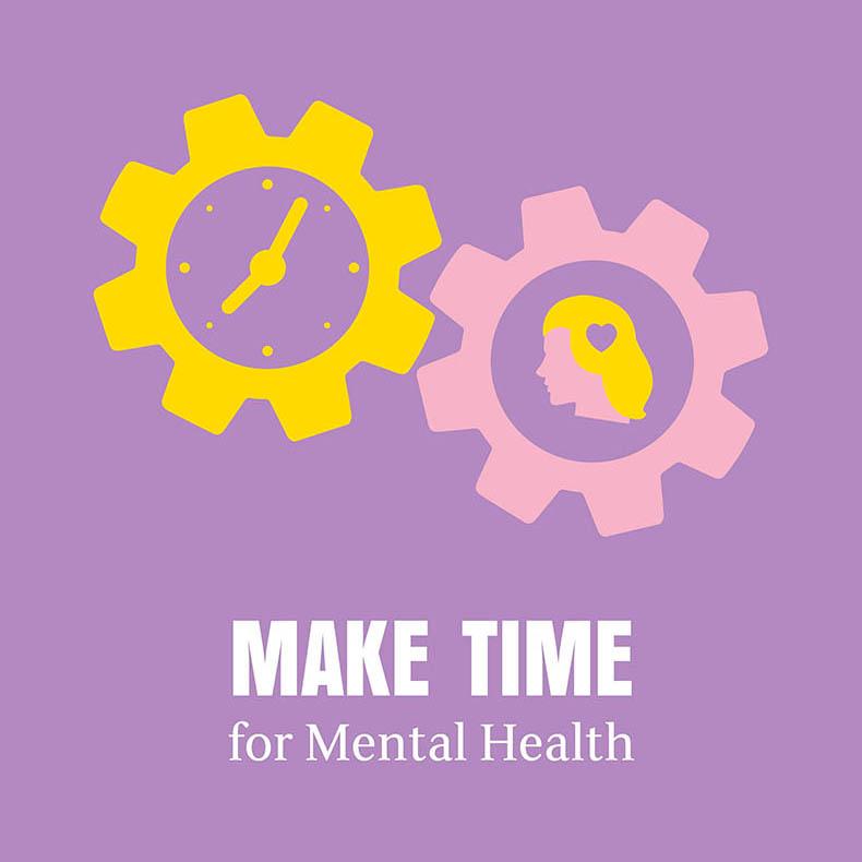 Make time for mental health logo