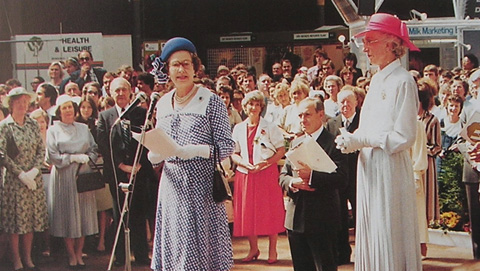 The Queen opening the Life and Leisure Exhibition at Olympia