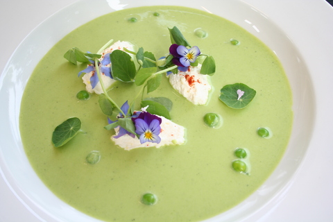 ... Institutes | English Pea and Mint Soup with Lemon Ricotta & Peashoots
